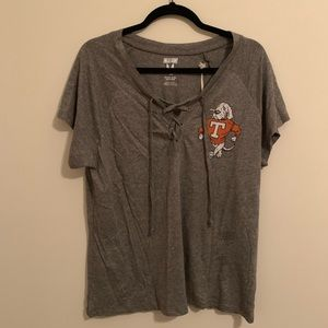 Tailgate University of Tennessee Lace-Up Top NWT